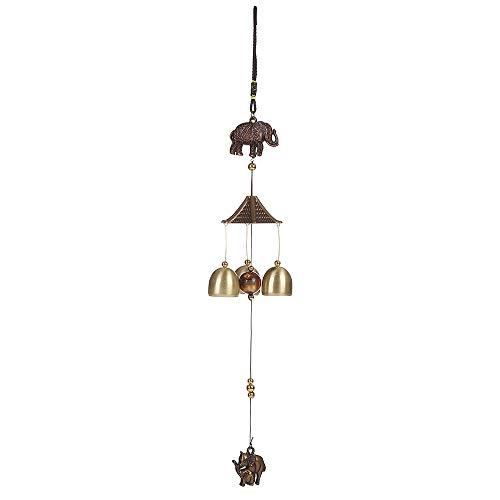styleinside Carillon à Vent Suspendu en cuivre Feng Shui Chinois Lucky Bell Peacock/Elephant MET Nouveau