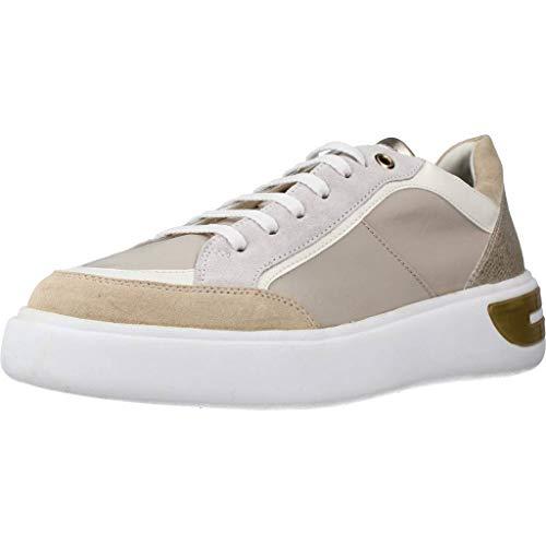 Geox Damen D OTTAYA A Sneaker, Beige (Cream/Sand C0086), 37 EU