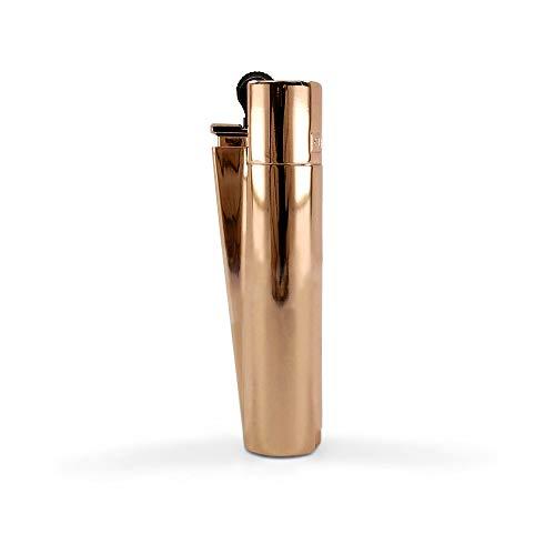 Clipper Metall Gas-Feuerzeug (Rose/Gold) mit SOFORTGRAVUR +VORSCHAU: Gravur inklusive (Gasfeuerzeug nachfüllbar)
