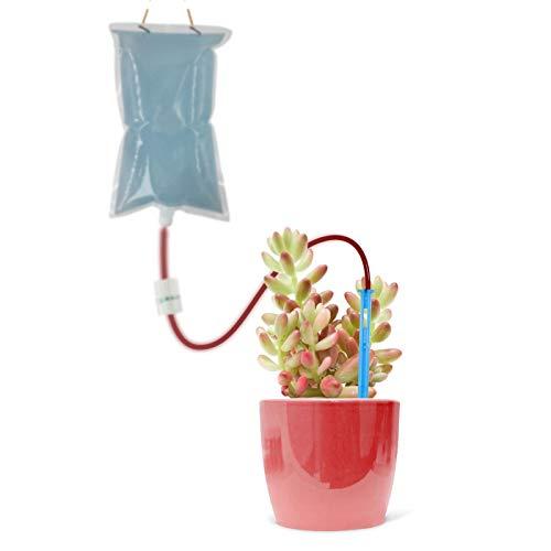 Programador de Riego Automatico Temporizador El agua de riego automático Drippers bolsa, Dispositivo de riego de la planta flor de uno mismo con picos de flujo ajustable, Alquiler de goteo Kits de roc