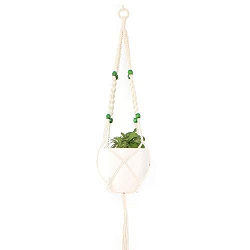 WEITAO Makramee-Pflanzenhänger, verschiedene Etagen, handgefertigtes Baumwollseil, zum Aufhängen, Blumentöpfe, Halter, Ständer, für Innen- und Außenbereich, Heimdekoration