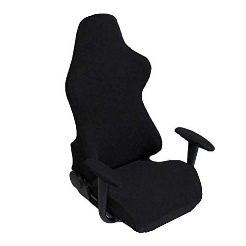 DKee. Buying Stretchable Gaming Hussen, Stuhl-Abdeckung Spielzimmer E-Sports Drehstuhl Slipcover Büro Computerspiel for Computer Reclining Racing -Büro-Stuhl mit Armlehne Abdeckung (Color : Black)