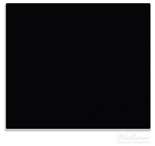 Wallario Herdabdeckplatte/Spritzschutz aus Glas, 1-teilig, 60x52cm, für Ceran- und Induktionsherde, Schwarz
