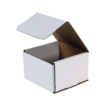 Choose Quantity 9x6x2 White Corrugated Mailers Shipping Box Pack