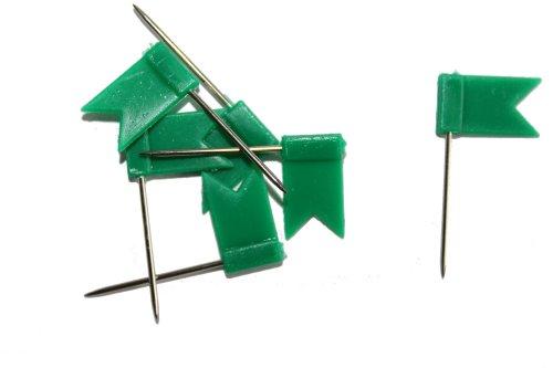 dalipo 31015 - Markiernadeln, Fahne, 100 Stück, grün