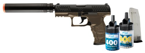 Walther PPQ 6mm BB Pistol Airsoft Gun, Combat Kit (Gun, 800 BBs and 2 Mags)