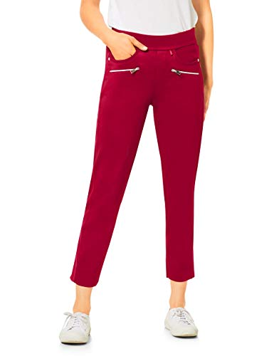 Street One Damen 373295 Bonny Loose Fit Hose, Sweet Wine, W38/L26