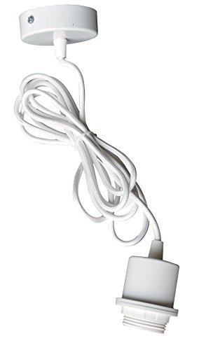Tibelec 772010 Suspension Métal Fil Tissu E27 Blanc