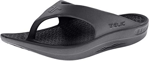 Telic Energy Flip Flop - Comfort Sandals for Men and Women | 2XL (Men's 12) Midnight Black