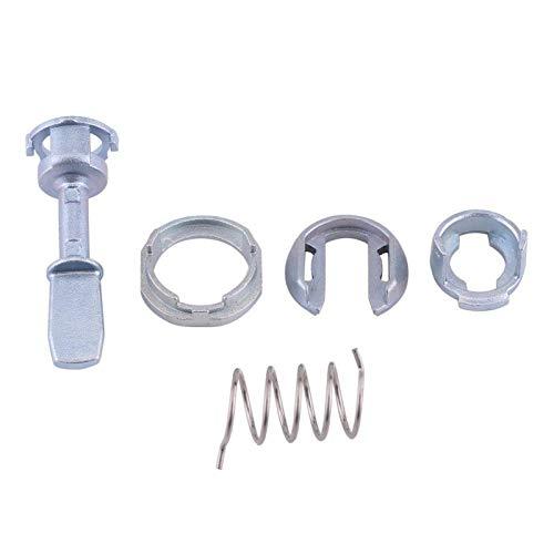 aqxreight - Kit de reparación de cerradura de puerta, kit de reparación de cilindro de cerradura de puerta delantera izquierda y derecha, piezas de repuesto para Seat Cordoba/Ibiza MK III/Cadd
