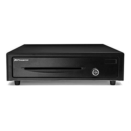 Phoenix Technologies - Cajón Portamonedas Eléctrico Automático para Dinero en Efectivo con Cerradura 4 Compartimentos de Billetes y 8 de Monedas