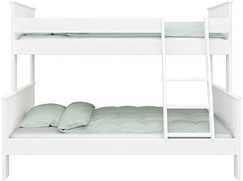 El marco de madera de los muebles del dormitorio de los niños de la litera triple, puede acomodar a 3 personas,White
