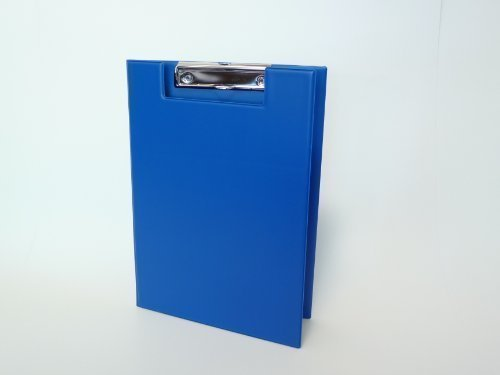 Brockhoff Präsentationssysteme - Cartellina portablocco, formato DIN A4, fabbricazione tedesca, colore: Blu