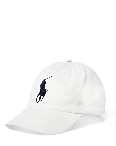 Ralph Lauren Polo Casquette Sport Big Pony Chino - Blanc