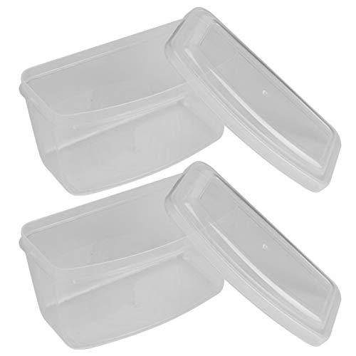 Caja de gafas de natación de alta calidad, 2 piezas, simplicidad, para gafas de buceo y esnórquel(Transparent)