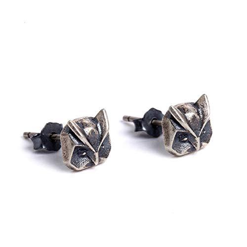 925 Sterling Silber Ohrringe,Ohrstecker Silber Ohrringe Damen Ohrstecker Geometric Owl Modeschmuck Kreative Einfache Persönlichkeit Exquisite Geschenk Urlaub Temperament Anti-Allergie Ohrringe Mädchen