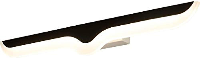 FJH Spiegel Scheinwerfer Badroo Nordic Einfache Moderne Wohnzimmer Schlafzimmer Gang Bett Kreative Spiegel Schrank Wandleuchte (Farbe   40cm 8W-Warm)