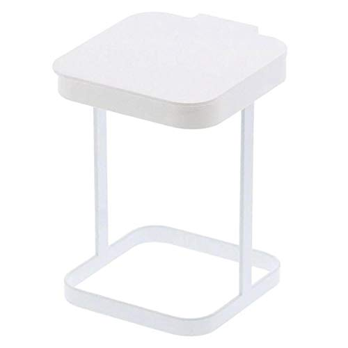 Originals Metal Countertop Trash Can Garbage Bag Holder for Home Kitchen (White) …