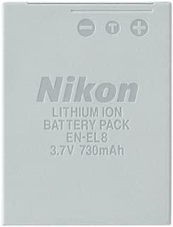 Nikon EN-EL8 Rechargeable Lithium-ion Battery for P1, P2, S1 & S3 Digital Cameras - Retail Packaging
