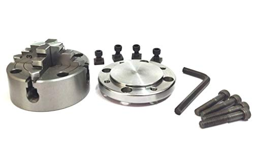 80 mm 4 Jaws Independent Dog chuck with Back Plate & T nuts for Rotary Table