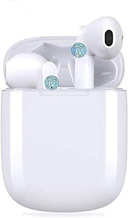 Auriculares Bluetooth 5.0, Auriculares Inalámbricos Bajo Profundo Hi-Fi Sonido Estéreo In-Ear Sport Auricular con micrófono e Estuche de Carga, IPX5 Impermeable,para Android/iPhone