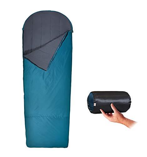 Litume 4,6°C 900g Sacco a Pelo in Pile Leggero Ultra Comfort, Sacco a Pelo Idrorepellente per climi Caldi e Freddi, Sacchi da Campeggio Senza Cuciture (4,6°C/ 900g)