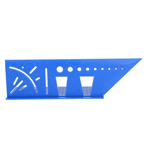 Verschleißfestes, hochgenaues 3D-Holzbearbeitungs-Markierungsmessgerät 2PCs Carpenter Square Angle Ruler-Messwerkzeug zum Markieren(blue)