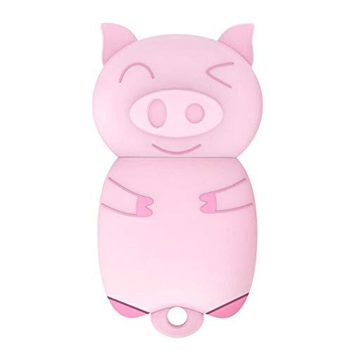 DM PD099 - Chiavetta USB in silicone a forma di maialino per PC 32 GB, rosa.
