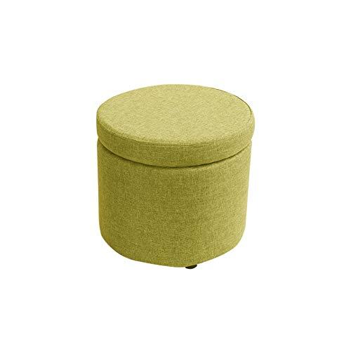 KJLY Taburete de pie de Almacenamiento de Ropa de Almacenamiento de Ropa de Cama, Sala de Estar de Sala de Estar Taburete de Madera Maciza, 32 * 32 * 30 cm (Color : Green)