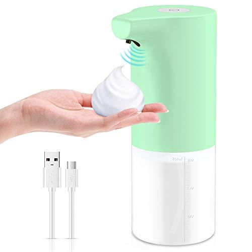HAPAW Seifenspender Automatisch 350ml, Sensor Infrarot No Touch Hand Seifenspender Elektrischer Schäumende Seifenspender Schaumseifenspender Soap Dispenser Schaumspender für Küche, Bad, Büro,WC