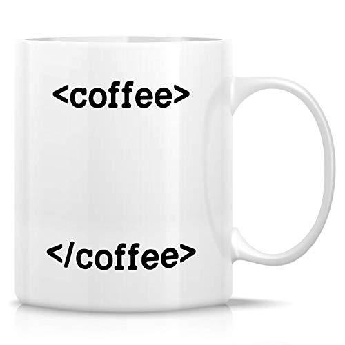 Coffee Coding Coder Programmer Software Engineer Developer Tazas de café de cerámica de 11 onzas - Divertido, sarcasmo, regalos de cumpleaños inspiradores para amigos, compañeros de trabajo, hermanos,