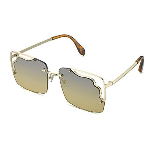 DKE&YMQ Gafas Geniales, Gafas De Sol Retro Con Forma De Caja Hueca Personalizada, Gafas De Sol De Graduación Con Protección Uv400 Anti-Ultravioleta Y Anti-Reflejos (5 Colores) Unisex