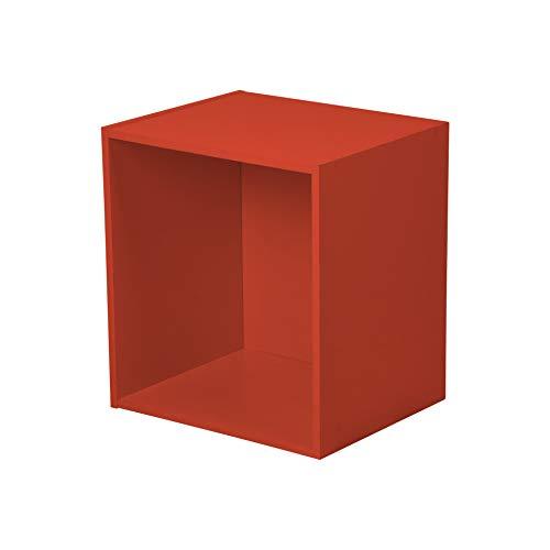 HOMEA 6ran697ro cubo portaoggetti con nicchia Pannelli di Particelle Rosso 34,4x 29,5x 34,4cm