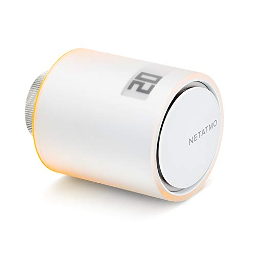 Netatmo NAV-PRO Tête Thermostatique Additionnelle Intelligente fonctionne avec Thermostat ou Starter Pack Intelligents