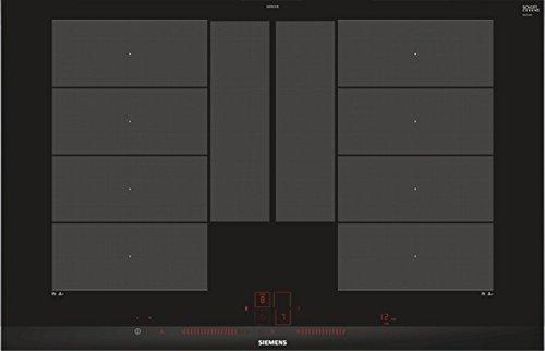 Siemens Ex875LYV1E iQ700 - Placa de cocina (Wi-Fi, compatible con Home Connect, varioInducción Plus, varioMotion, sensor de cocción plus, función Power-Boost, color negro)