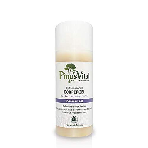 Pinus Vital Naturkosmetik | Aktivierendes & wärmendes Körpergel | Ideal bei verspannten Muskeln und müden Beinen | 150 ml