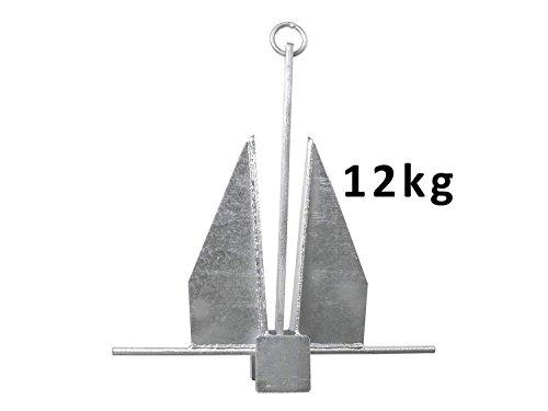 John Paddle Anker Danforth Plattenanker 12,0 kg aus verzinkter Stahl mit Befestigungsring