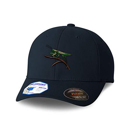Flexfit Hats for Men & Women Animal Wildlife Bug Insect Praying Mantis Polyester Dad Baseball Cap Dark Navy Design Only Large XLarge