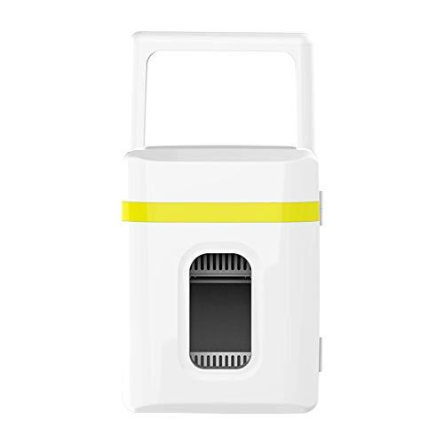 Minikoelkast Geruisloze 2-in-1 campingkoelkast Kleiner voor kamers Autokoelkast Minibar 12V met koel- en verwarmingsfunctie voor autos, minikoelkast voor drankjes, geel