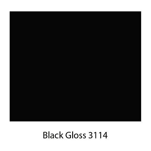 Folien-Dicount24 (EUR 6,20 / Quadratmeter) Küchenfolie Möbelfolie 100 cm x 61cm Hochglanz Preis Tip ! WUNSCHFARBE WÄHLEN (Schwarz 3114 Glossy) (EUR 6,20 / Quadratmeter)