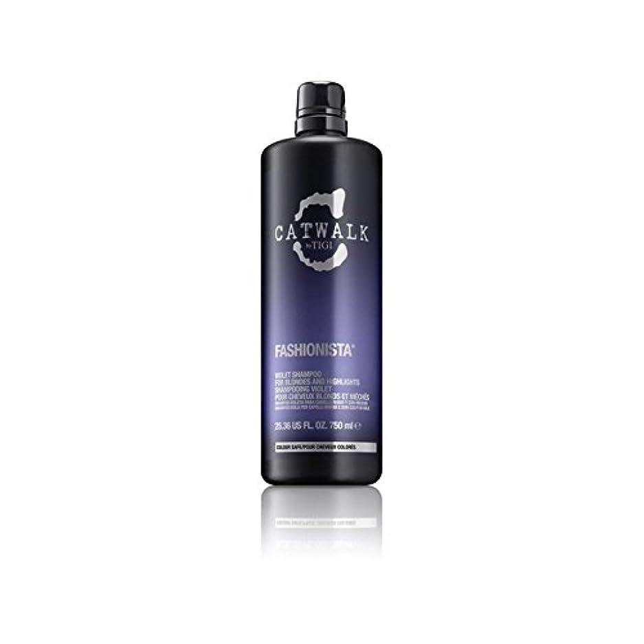 科学的粗いウナギティジーキャットウォークファッショニスタ紫シャンプー(750ミリリットル) x4 - Tigi Catwalk Fashionista Violet Shampoo (750ml) (Pack of 4) [並行輸入品]