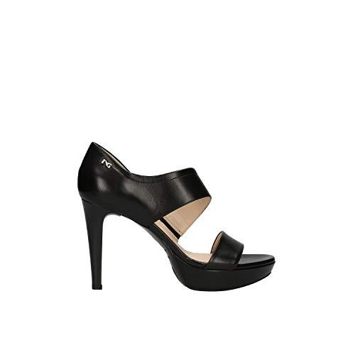 Nero Giardini Mujer Elegante Sandalia con Zapatos de tacón Negro E012810DE artículo Muelle 100 Nueva colección de Verano 2020