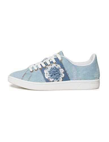 Desigual Shoes (Cosmic_Exotic Denim), Zapatillas para Mujer, Azul (Wash 5007), 41 EU