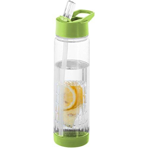 Bullet - Botella con infusor modelo Tutti Frutti (25.9 x 7.1 cm) (Transparente/Verde Lima)