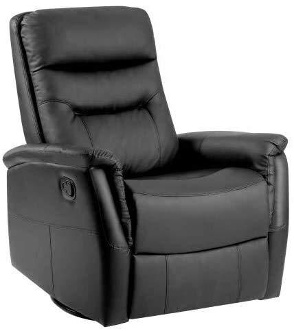 TYXL Gaming Chair Compra PU Cuero reclinable Sofá Sillón, Cine Juego Rock Tumbona Silla for Sala de Estar (Negro)