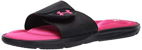 Under Armour Women's Ignite IX SL Slide Sandal, Black (003)/Black, 6 M US