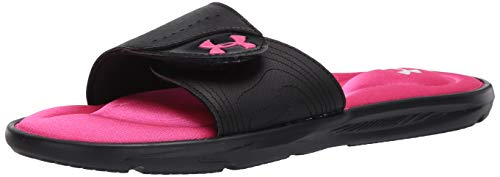 Under Armour Women's Ignite IX SL Slide Sandal, Black (003)/Black, 8 M US