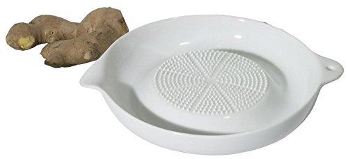 Ingwerreibe aus Porzellan, mit scharfer Reibfläche, speziell für Ingwer geeignet / Ø dia. 17,5 cm | ERK