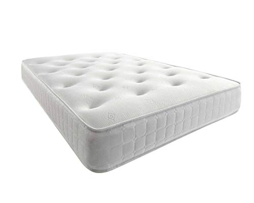 Mattress-Haven Comfy Sleep Cool Blue Memory Foam Mattress, Sprung Mattress with Foam3FT - Single