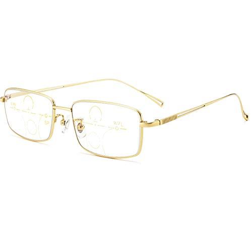 HQMGLASSES Gafas de Lectura multifocales Anti-Azul de Titani